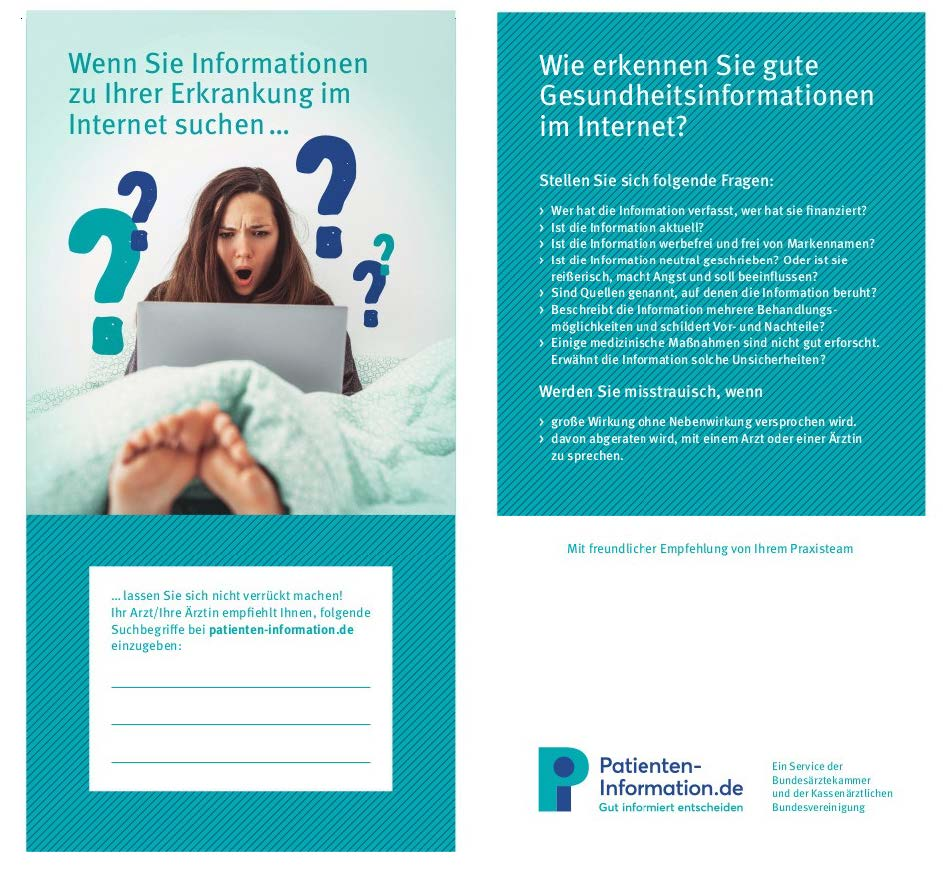 "Flyer ""Patientenportal"""